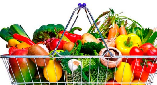 cesta-frutas alimentación nutrición